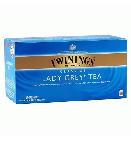 фото: Чай Twinings Lady Grey черный, 25 пакетиков