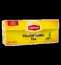 Чай Lipton Yellow Label черный, 25 пакетиков