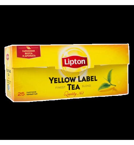 фото: Чай Lipton Yellow Label черный, 25 пакетиков