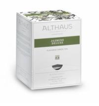 Чай Althaus Jasmine Deluxe зеленый, листовой, в пирамидках, 15 пакетиков