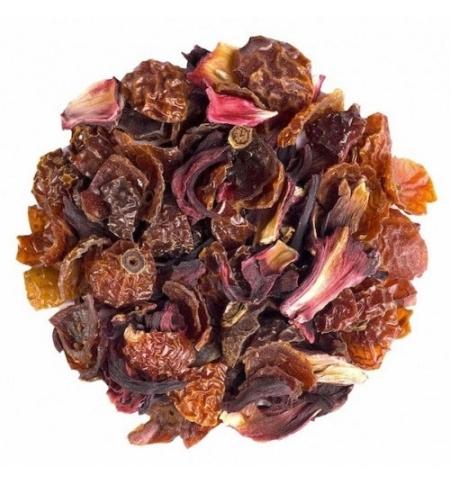 фото: Чай Newby Rosehips & Hibiscus (Шиповник и гибискус) ягодный, листовой, 250 г