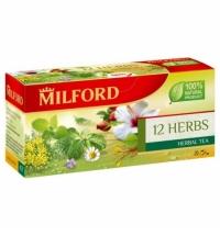 Чай Milford 12 Herbs 20 пакетиков, травяной