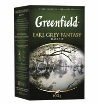 Чай Greenfield Earl Grey Fantasy (Эрл Грей Фэнтази) черный, листовой, 100 г