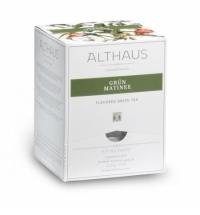 Чай Althaus Grun Matinee зеленый, листовой, в пирамидках, 15 пакетиков
