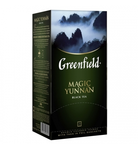 фото: Чай Greenfield Magic Yunnan (Мэджик Юньнань) черный, 25 пакетиков