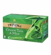 Чай Twinings Green Tea & Mint зеленый, 25 пакетиков
