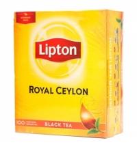 Чай Lipton Royal Ceylon черный, 100 пакетиков