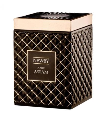 фото: Чай Newby Gourmet Rare Assam (Рэйр ассам) черный, листовой, 100 г, ж/б