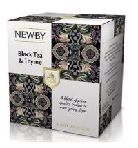 Чай Newby Black Tea&Thyme (Черный чай с чабрецом) черный, листовой, 100 г