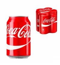 Напиток газированный Coca-Cola 330мл х 4шт ж/б