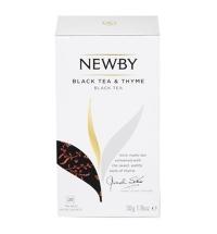 Чай Newby Thyme (Чабрец) черный, 25 пакетиков