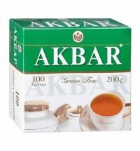 Чай Akbar Китайский зеленый, 100 пакетиков