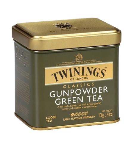 фото: Чай Twinings Gunpowder зеленый, листовой, 100г, ж/б