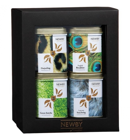 фото: Набор чая Newby Safari №2 4 сорта, листовой, 160г, ж/б