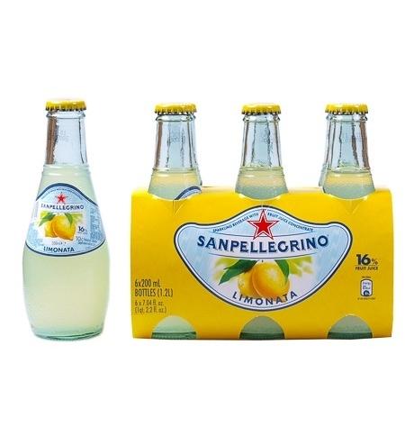 фото: Напиток газированный Sanpellegrino Limonata лимон 200мл, стекло