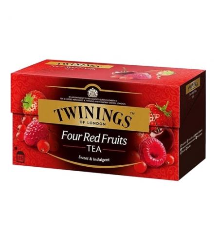фото: Чай Four red fruit черный, 25 пакетиков