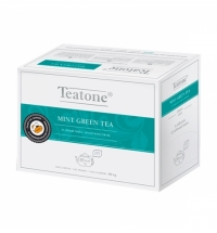 Чай Teatone Mint Green Tea зеленый, 20 пакетиков на чайник