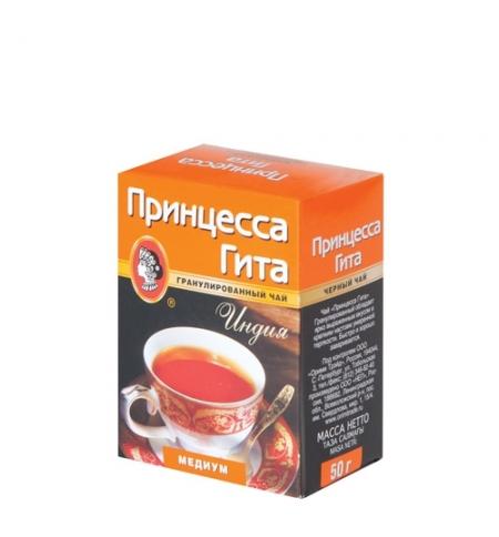 фото: Чай Принцесса Гита Медиум гранулированный черный, 50г