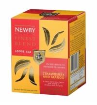 Чай Newby Mango Strawberry (Манго строуберри) черный, листовой, 100 г