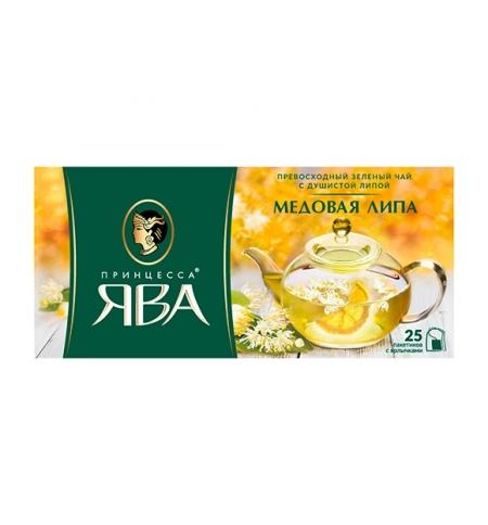 фото: Чай Принцесса Ява Медовая липа зеленый, 25 пакетиков