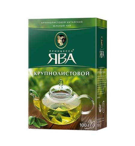 фото: Чай Принцесса Ява Крупнолистовой зеленый, листовой, 100 г