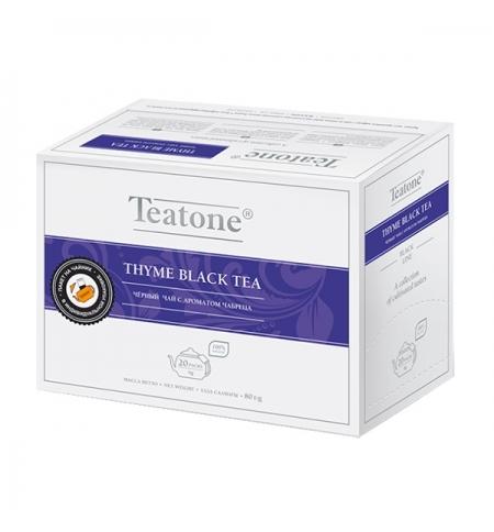 фото: Чай Teatone Thyme Black Tea черный, 20 пакетиков на чайник