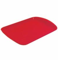 Поднос прямоугольный красный 47х33 см