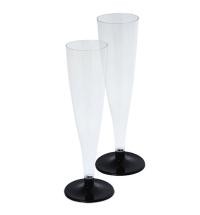 Бокал одноразовый для шампанского Horeca прозрачный 165мл, 6шт/уп