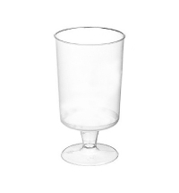Рюмка одноразовая Ди-Пласт Кристалл прозрачная 100мл, 18шт/уп