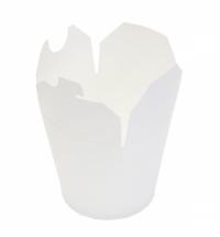 Коробка для лапши Артпласт 750мл белая, с круглым дном, 50шт/уп