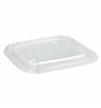 Крышка к салатному контейнеру Стиролпласт СпК-1212 12.6х12.6см 50шт/уп