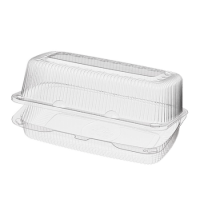 Контейнер одноразовый для десертов Комус-Упаковка РК-38(М)(Т) с крышкой 23.9х13.9х9.8см