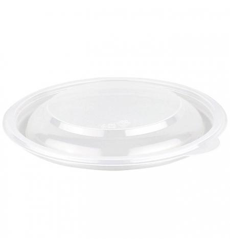 фото: Крышка к суповому контейнеру Стиролпласт К-144К на 500мл d 14.4см, прозрачная, 50шт/уп
