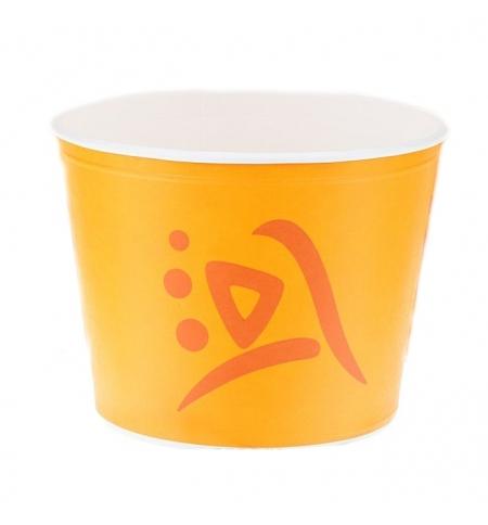 фото: Ведро картонное Huhtamaki Whizz 875мл желтое, 41шт/уп