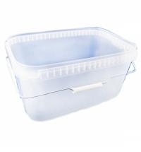 Ведро пищевое Альянсупак 11л 36.6х24.3см, прозрачное, с пластиковой ручкой