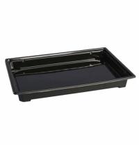 Контейнер одноразовый для суши Стиролпласт Сп-25Д 23.5х16.2х2.5см черный