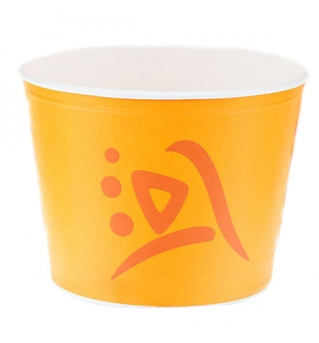 фото: Ведро картонное Huhtamaki Whizz 2.5л желтое, 50шт/уп