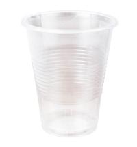 Стакан одноразовый Стиролпласт Эконом 200мл пластиковый прозрачный, 100шт/уп