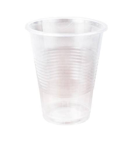 фото: Стакан одноразовый Стиролпласт Эконом 200мл пластиковый прозрачный, 100шт/уп