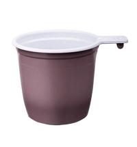 Чашка одноразовая 180мл 50шт/уп, бело-коричневая