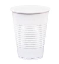 Стакан одноразовый Стиролпласт Эконом 200мл пластиковый белый, 100шт/уп