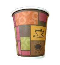 Стакан одноразовый Huhtamaki Чашки 200мл бумажный однослойный, 50шт/уп