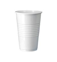 Стакан одноразовый Интеко 200мл пластиковый белый, 200шт/уп