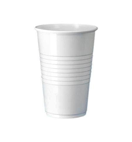 фото: Стакан одноразовый Интеко 200мл пластиковый белый, 200шт/уп