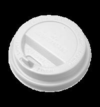 Крышка для одноразовых стаканов Huhtamaki с носиком d 80мм белая, 100шт/уп