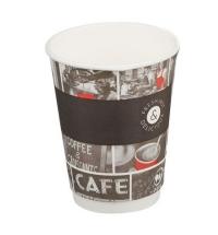Стакан одноразовый Huhtamaki Cafe Noir 300мл бумажный двухслойный, 25шт/уп
