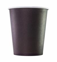 Стакан одноразовый Формация 250мл бумажный, черный, 75шт/уп