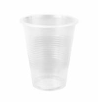 Стакан одноразовый Интеко 200мл пластиковый прозрачный, 200шт/уп