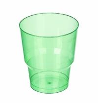 Стакан одноразовый Покровский Полимер Кристалл 200мл 50шт/уп, пластиковый зеленый