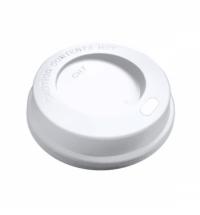 Крышка для одноразовых стаканов Huhtamaki без носика d 74мм белая, 100шт/уп